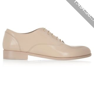 New Concept Lanvin Beige Glossed leather Brogues