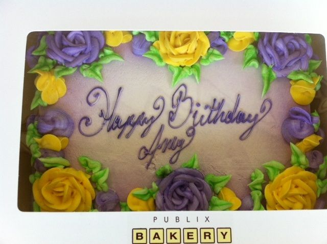 Fantastic Publix Birthday Cake My Fave Yellow Cake W Buttercream Frosting Funny Birthday Cards Online Overcheapnameinfo