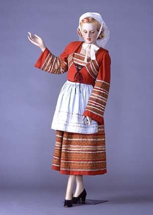 Costume folklorique français Bretagne