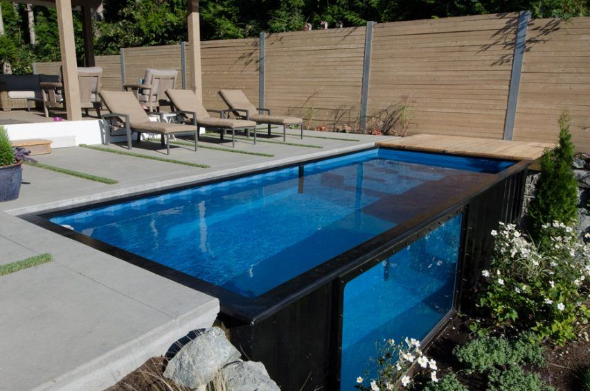 modpools repurposes used shipping containers as swimming pools and hot tubs pool pinterest. Black Bedroom Furniture Sets. Home Design Ideas