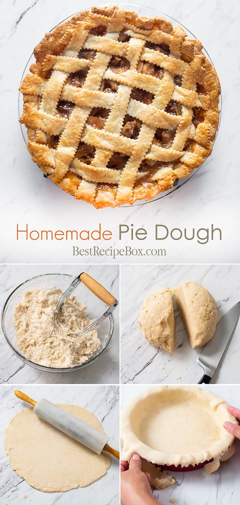 Easy Pie Dough Recipe and How To Make Pie Dough