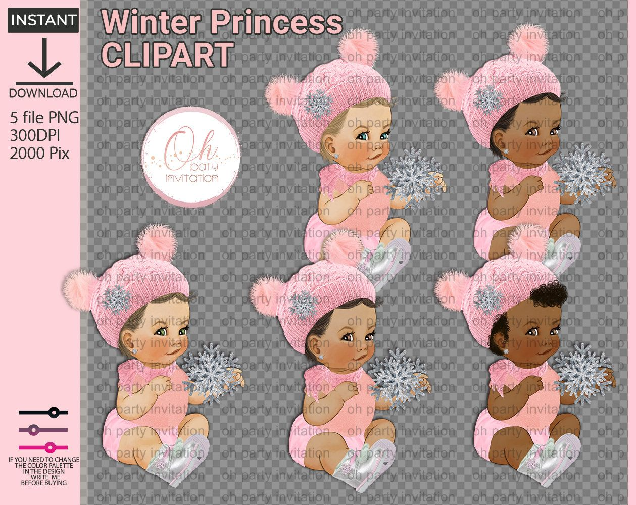 Winter princess Pink onesize with silver boots Winter wonderland baby shower centerpieces Princess png Its Cold Baby Shower instant Download