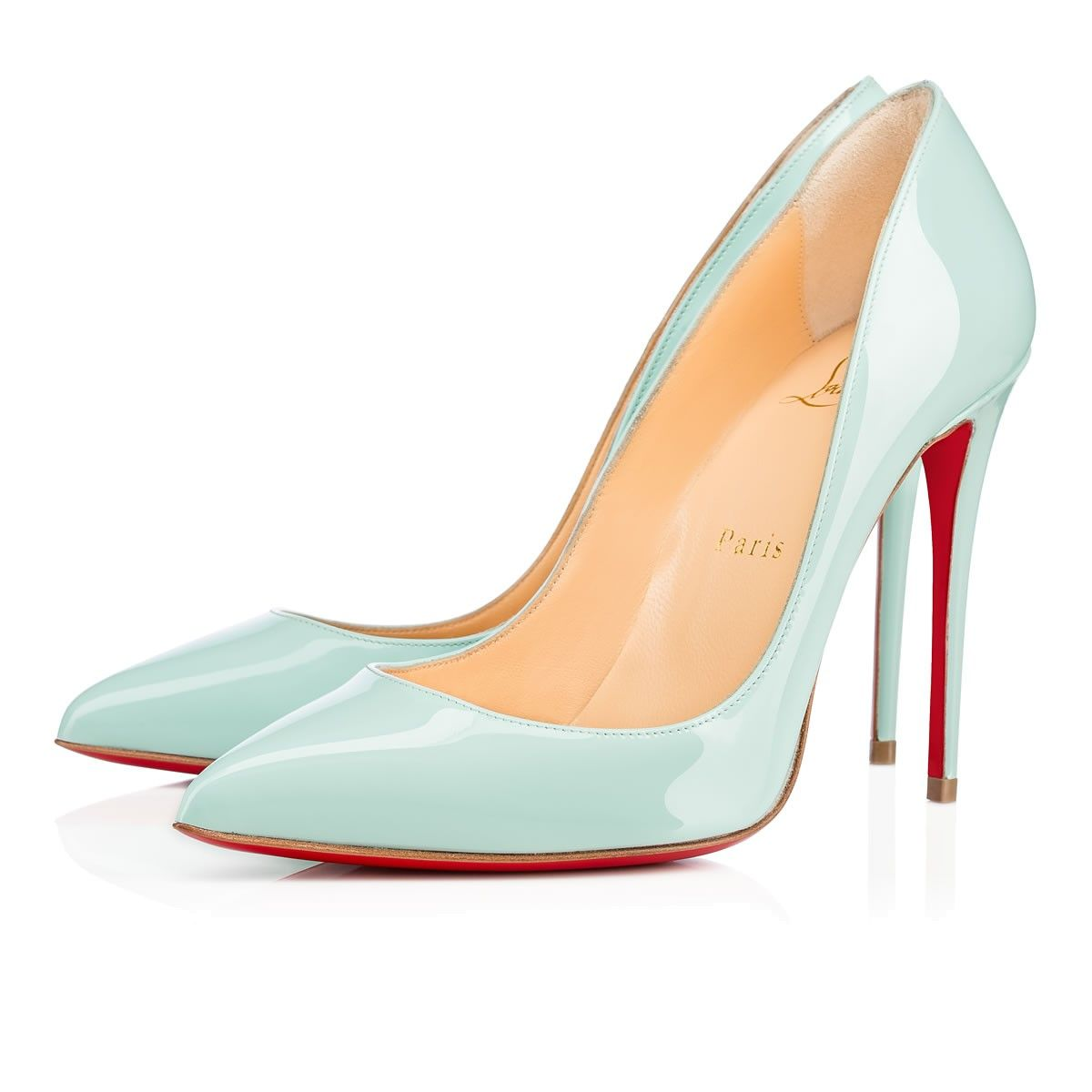 7e4b05ab1467 Pigalle Follies 100 Silver Specchio Leather - Women Shoes - Christian  Louboutin