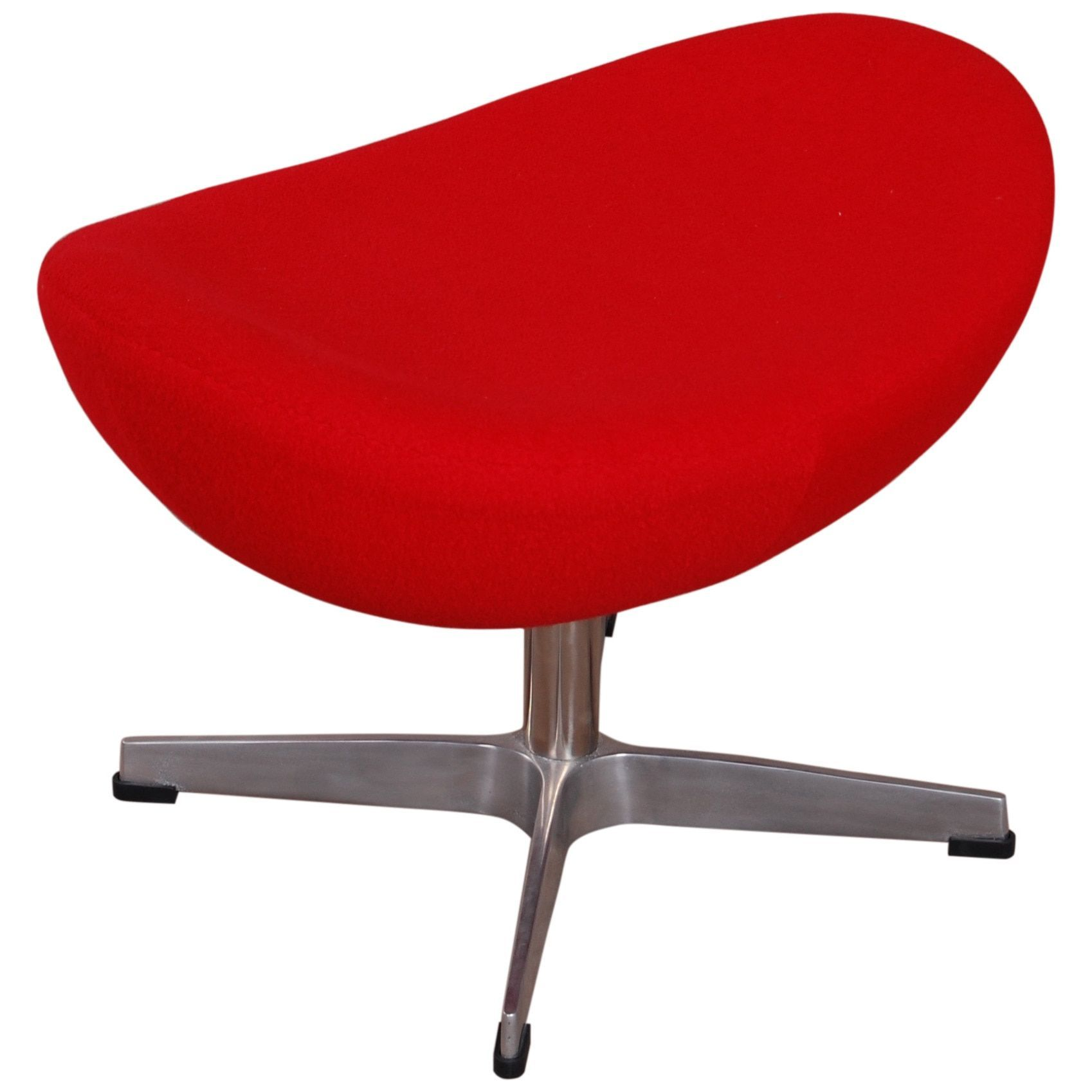 Furniture MLF Red Cashmere Egg Chair Ottoman (Red) (Wool)