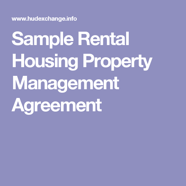Sample Rental Housing Property Management Agreement Ohio