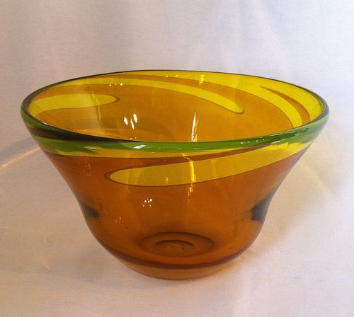 Hand Blown Glass Bowl