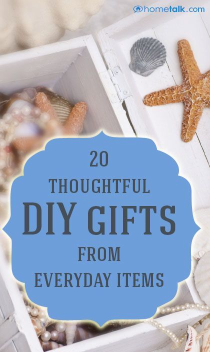Create Your Own Gifts From Things Around The House