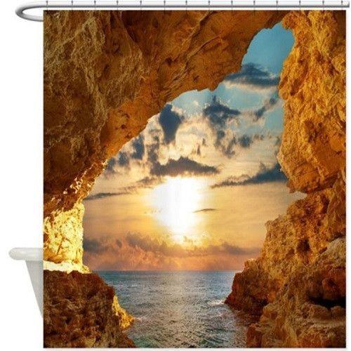 Beach Cave Shower Curtain 108