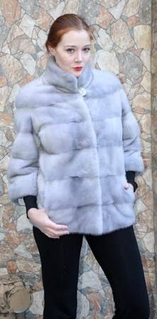 Designer Sapphire Mink Fur Jacket Horizontal Design 66778 Image ...