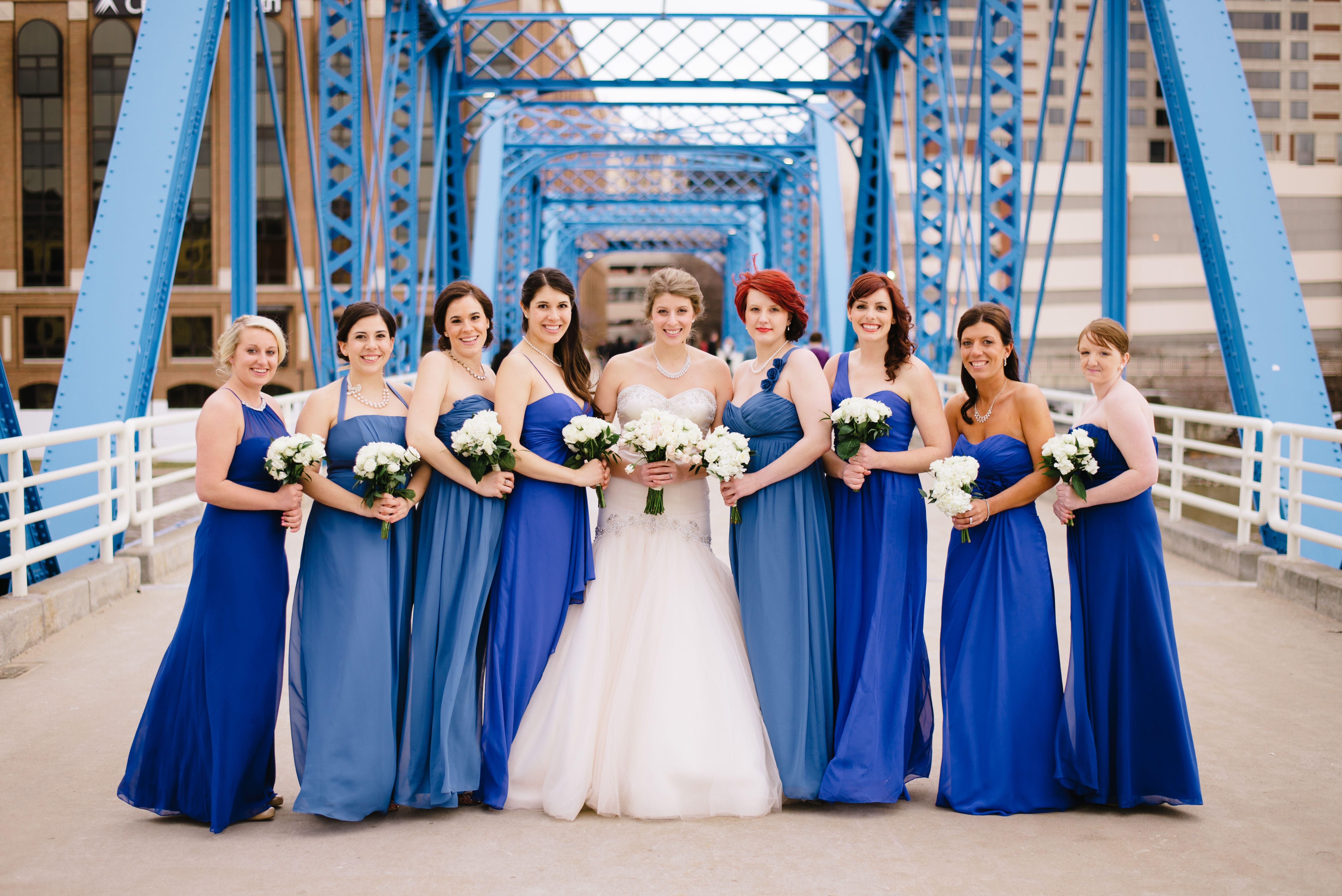 Indigo Bridesmaid Dresses | Alfred Angelo Chiffon Bridesmaids Dresses In Mediterranean Indigo