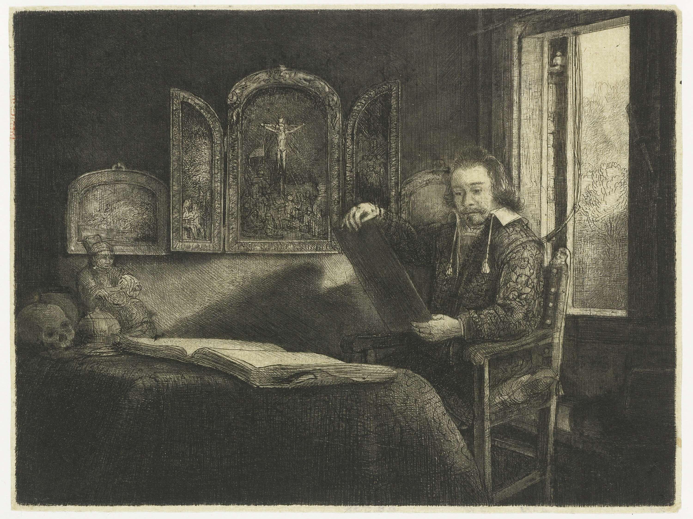 Rembrandt Harmensz. van Rijn | De apotheker Abraham Francen, Rembrandt Harmensz. van Rijn, 1655 - 1659 |