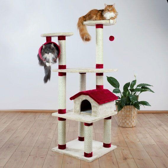 Trixie Kratzbaum Marissa Beige Rot Kratzbaum Hundezwinger Tierbedarf