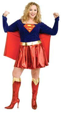 Plus Size Supergirl Costume-The Top Plus Size #Halloween Costumes - http://go.shr.lc/1wjICYC via @poshonabudget