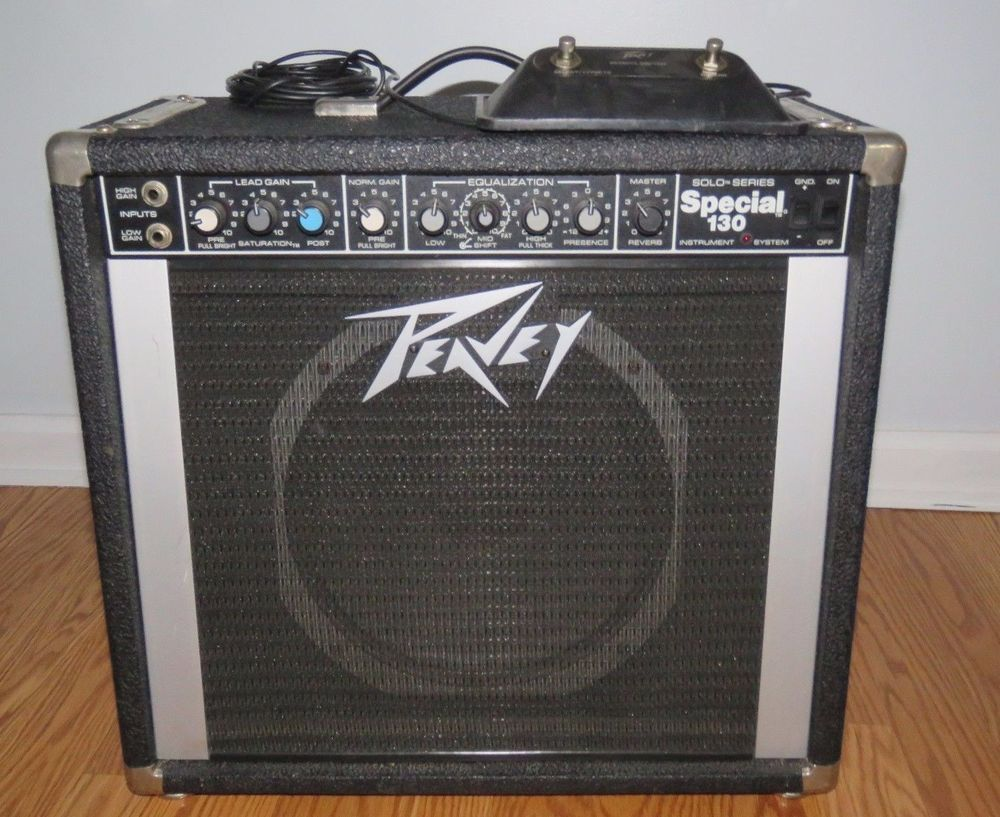 Peavey Special 130 Solo Series Guitar Amplifier Amp With Foot Switch 300 Watts Peavey Peavey Guitar Amps For Sale Vintage Guitars
