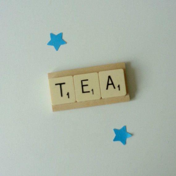 TEA tile magnet Tea lover gift Menu planner by MooseintheMint