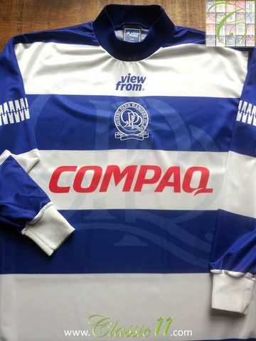 Relive Queens Park Rangers  1995 1996 season with this vintage View From  home long sleeve football shirt. d4a01fe9d