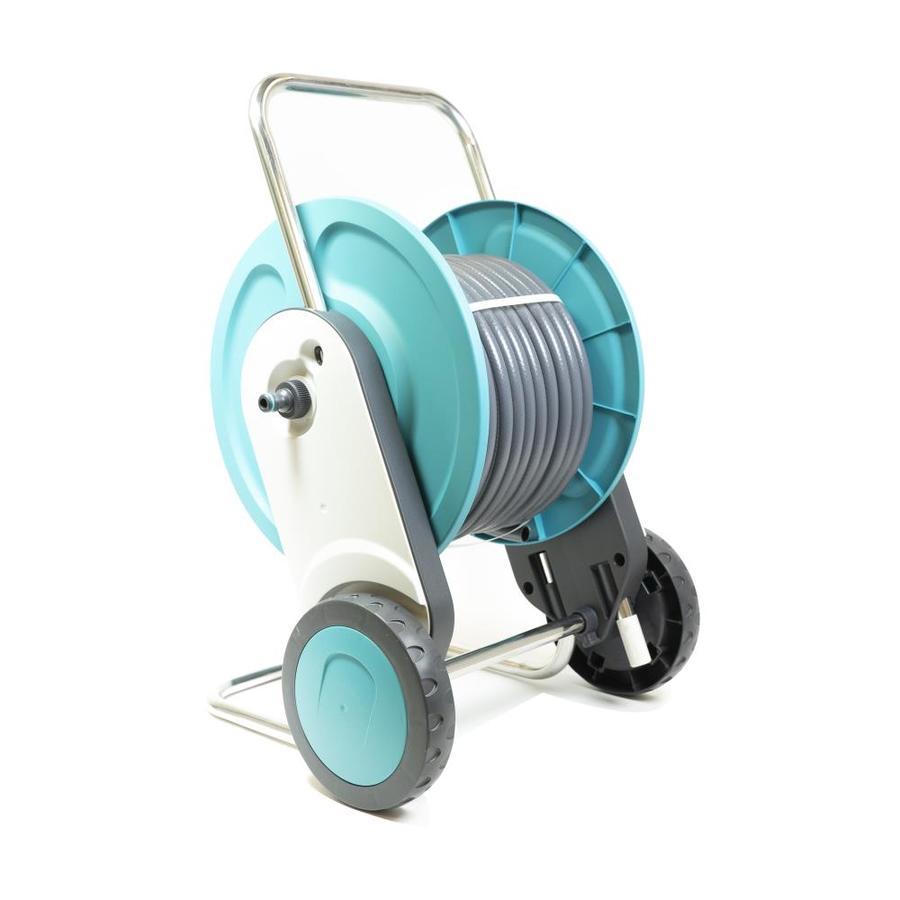G.F. Garden Aluminum Cart Hose Reel at Metal