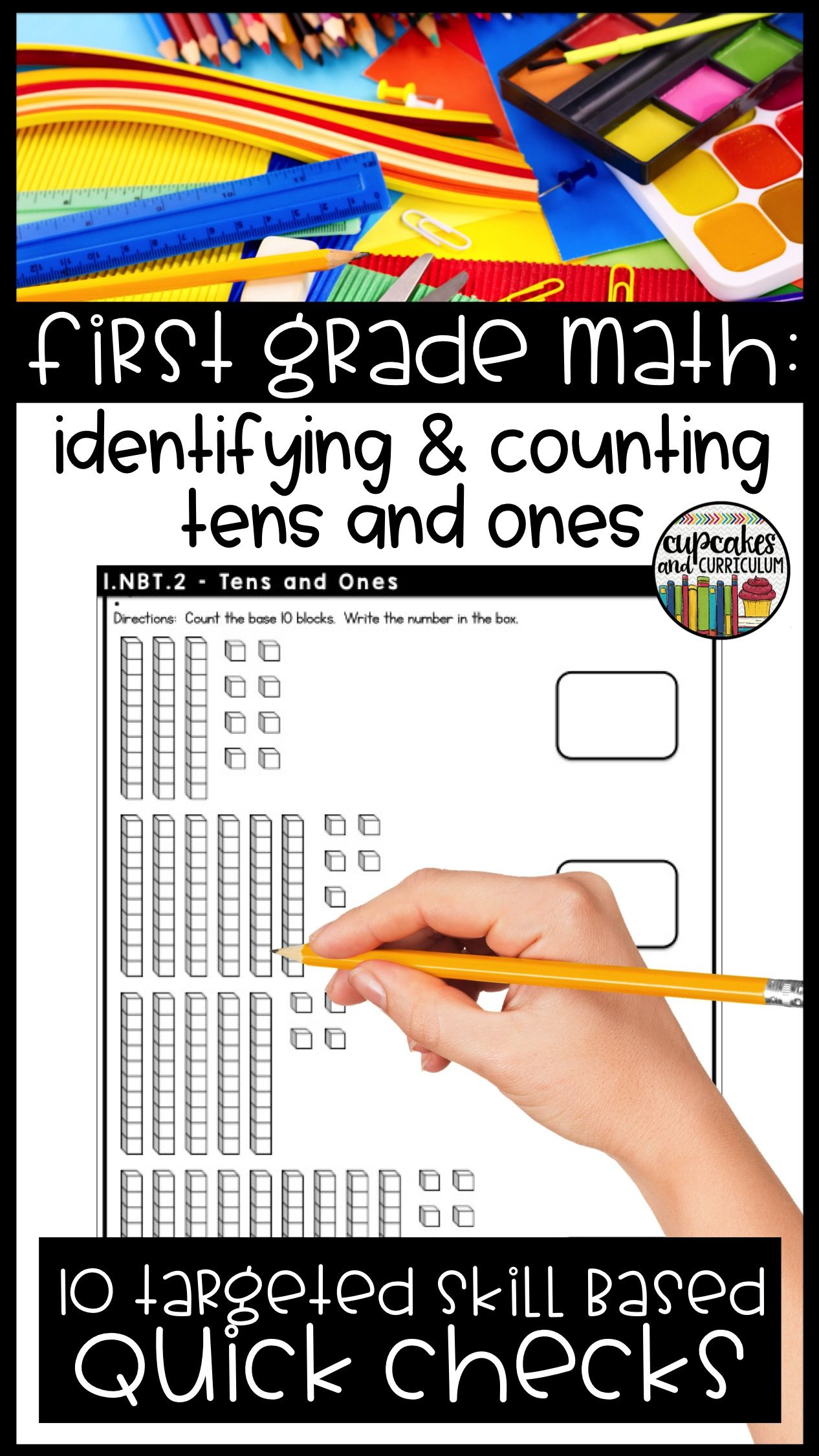 First Grade Math Skill Checks Full Year   Math skills, Morning work ...