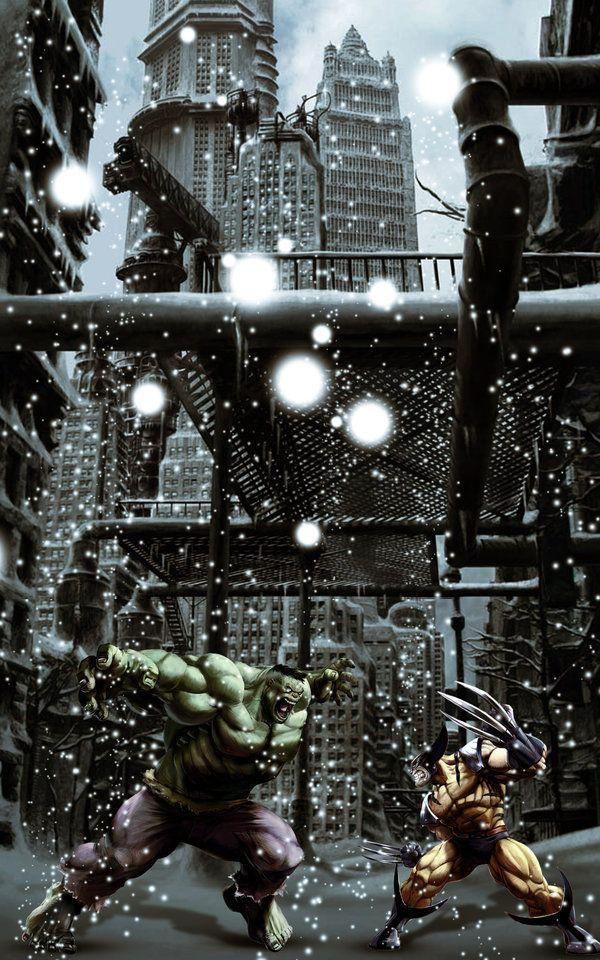 #Hulk #Fan #Art. (Hulk vs. Wolverine) By:Eppy91. (THE * 5 * STÅR * ÅWARD * OF: * AW YEAH, IT'S MAJOR ÅWESOMENESS!!!™)[THANK Ü 4 PINNING<·><]<©>ÅÅÅ+(OB4E)