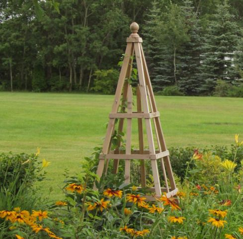 76 Inch Natural Cedar Obelisk From The Clic Garden In Birtle Mb