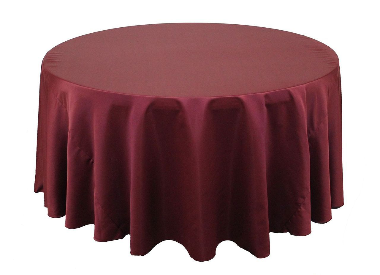 120 Inch Round L Amour Satin Tablecloths Burgundy Table Cloth Wedding Table Linens Burgundy Table Runner
