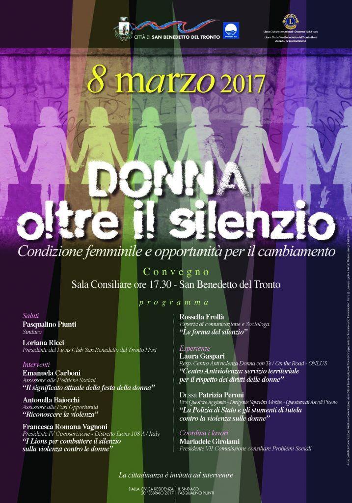 Donna oltre il silenzio a San Benedetto un confronto sul ruolo della donna