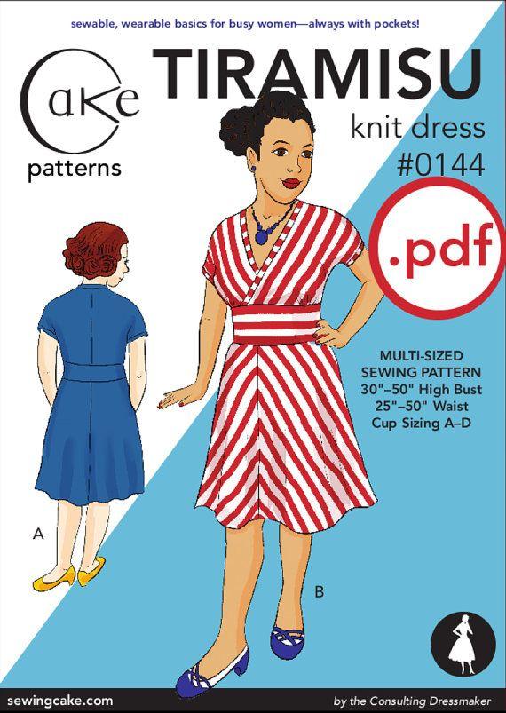 pdf Tiramisu Knit Dress Cake Patterns #0144 Second Edition