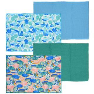 Home Collection Beach Bash Blue/Green Dish Drying Mats image