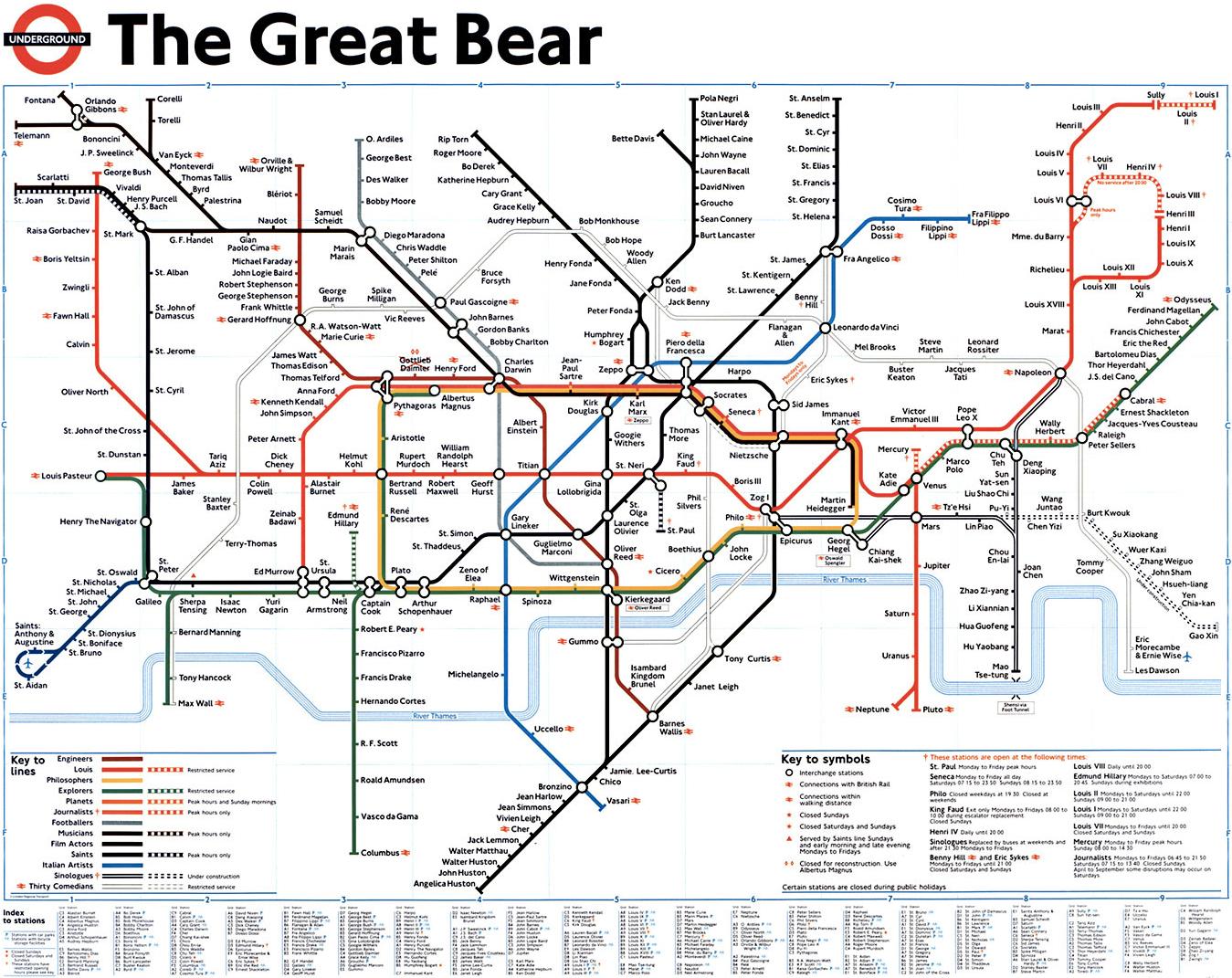 The great bear a lovely tubemap london tube map and london london underground the great bear a lovely tubemap gumiabroncs Choice Image