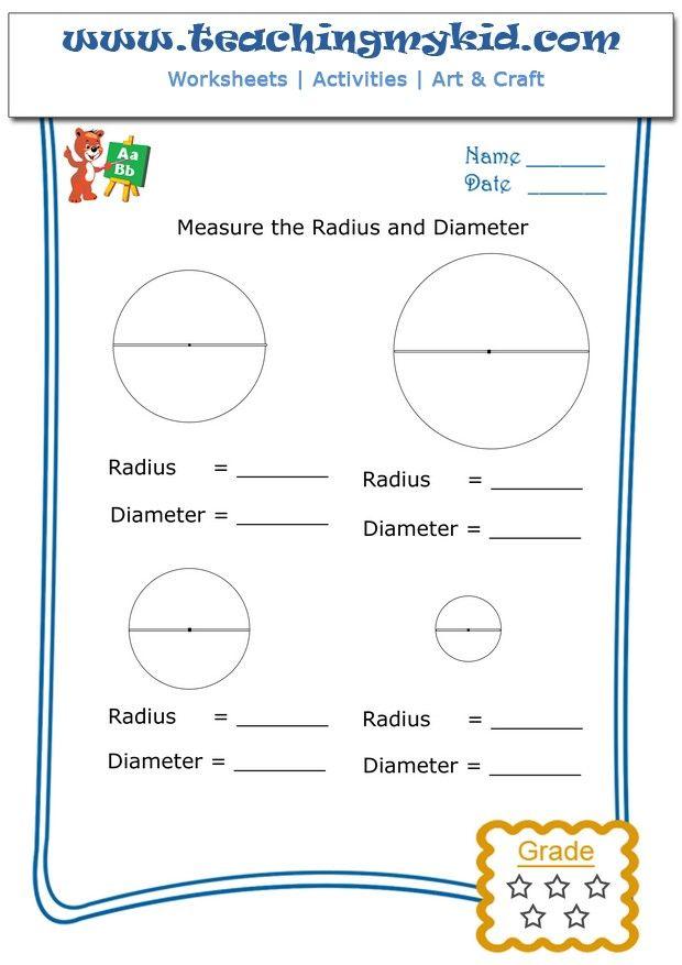 Printable Worksheets radius worksheets : measure the radius and diameter   Teachingmykid.com   Pinterest ...