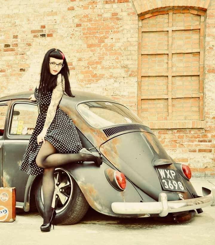 Volkswagen – One Stop Classic Car News & Tips Pinup, Sweet Cars, Van Vw, Kdf Wagen, Bus Girl, Vw Vintage, Buggy, Vw Cars, Touareg