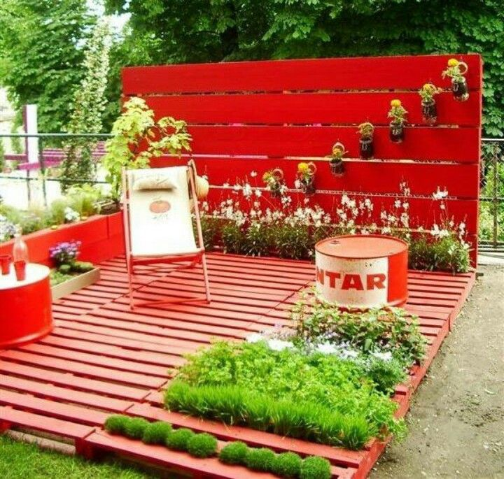 Pallets put to good use! Terrazas Pinterest Terrazas - Terrazas Con Palets