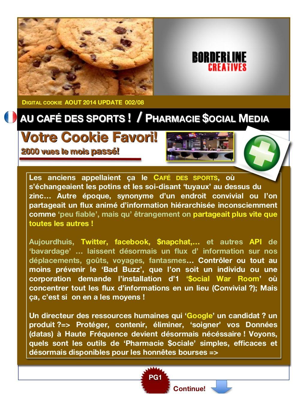 Mais Ou Sont Passé Les Tuyaux digital cookie 002/08borderline creatives via slideshare