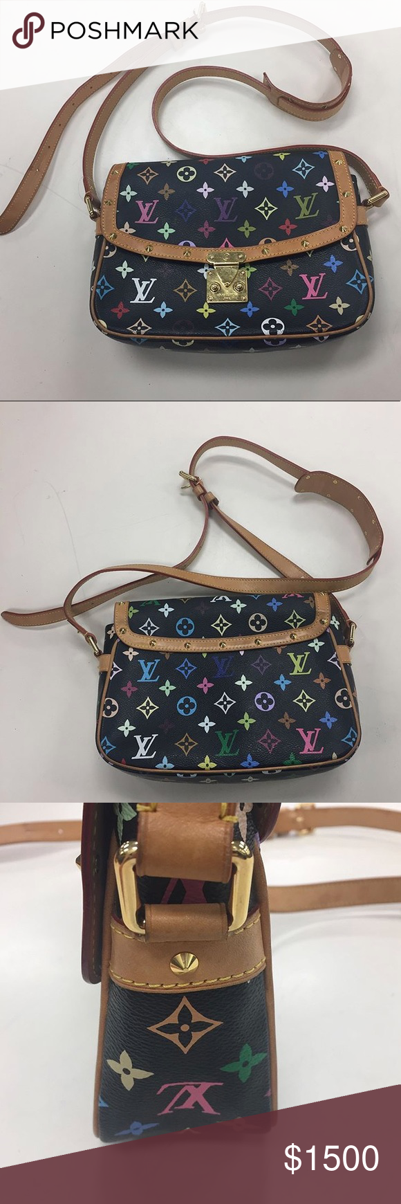 5bee074ef3a Louis Vuitton Sologne multicolor crossbody rare Great condition please  inquire for more details on this rare