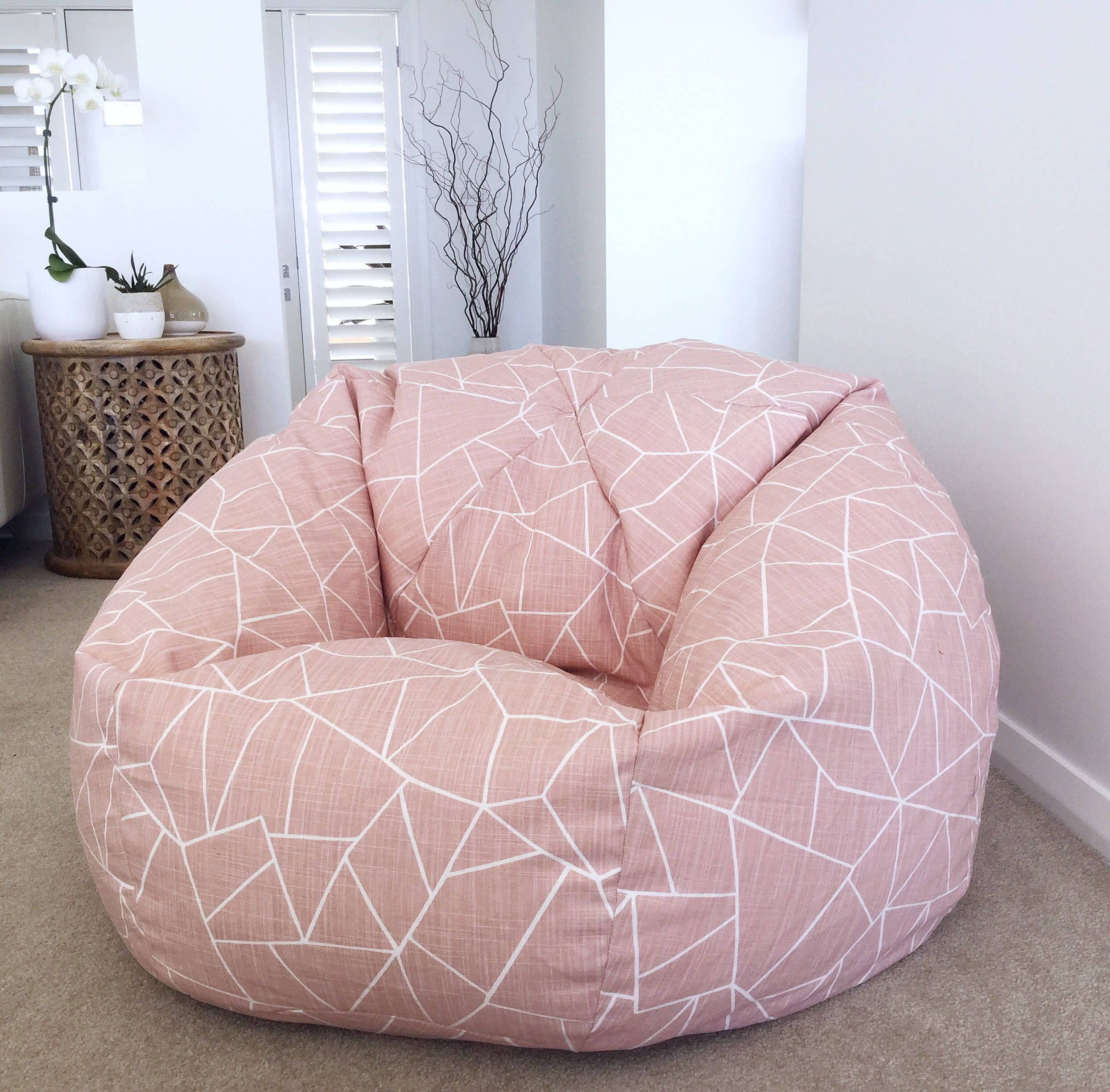 Bean Bag Cover Cut Gkass Bean Bag Blush Pink Kids Teenagers
