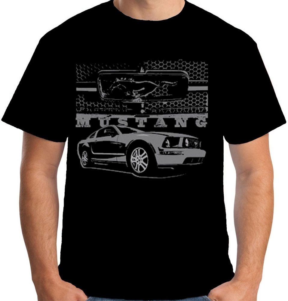 1994dcfb Velocitee Mens T-Shirt Genuine Licensed Ford Mustang Muscle Car & Grill  A21284 #VelociteeSpeedShop