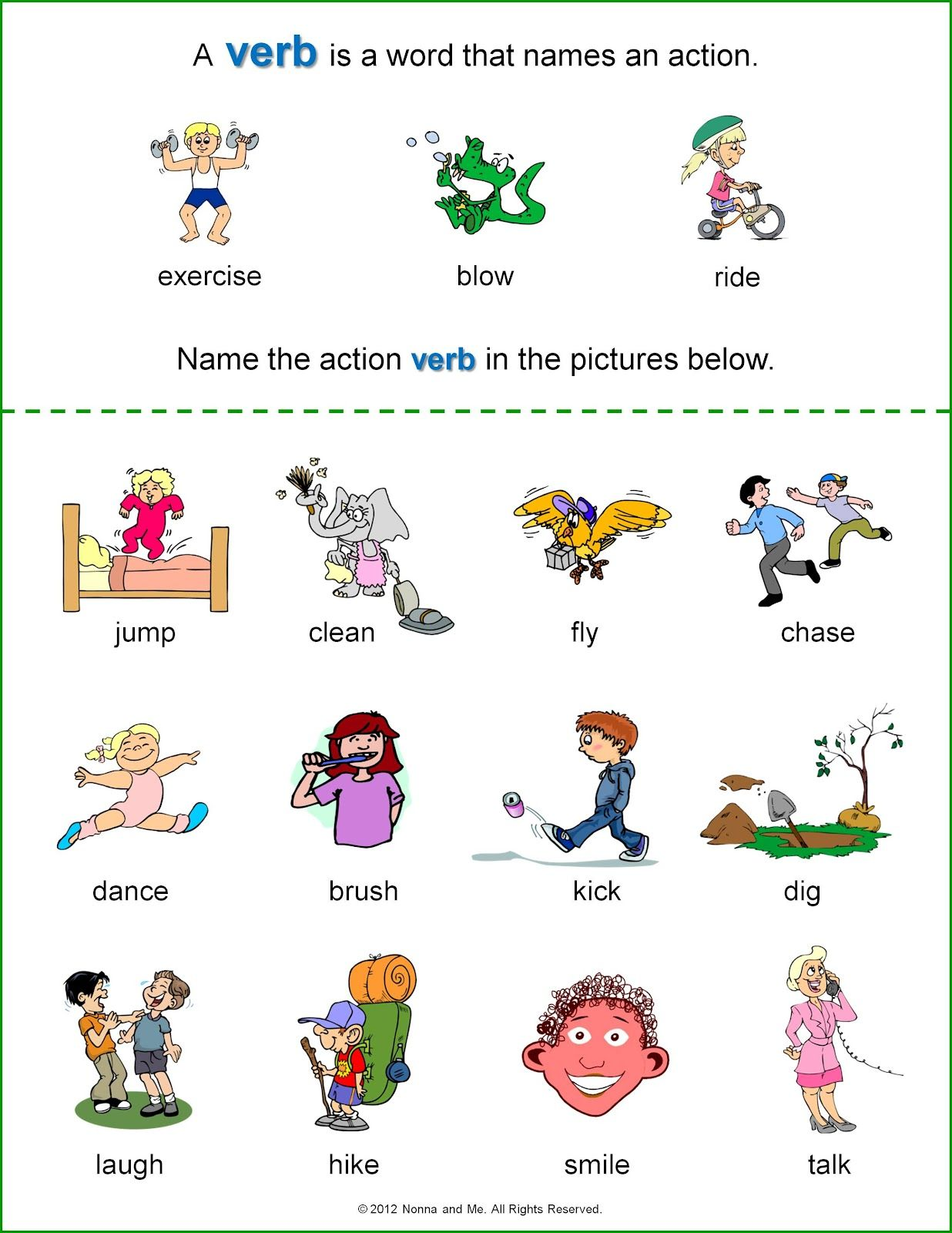 Using Action Words in Writing