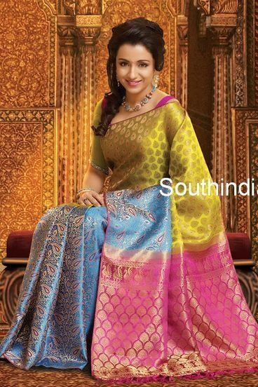 Trisha In Pattu Saree Beauty Of South India Bridal