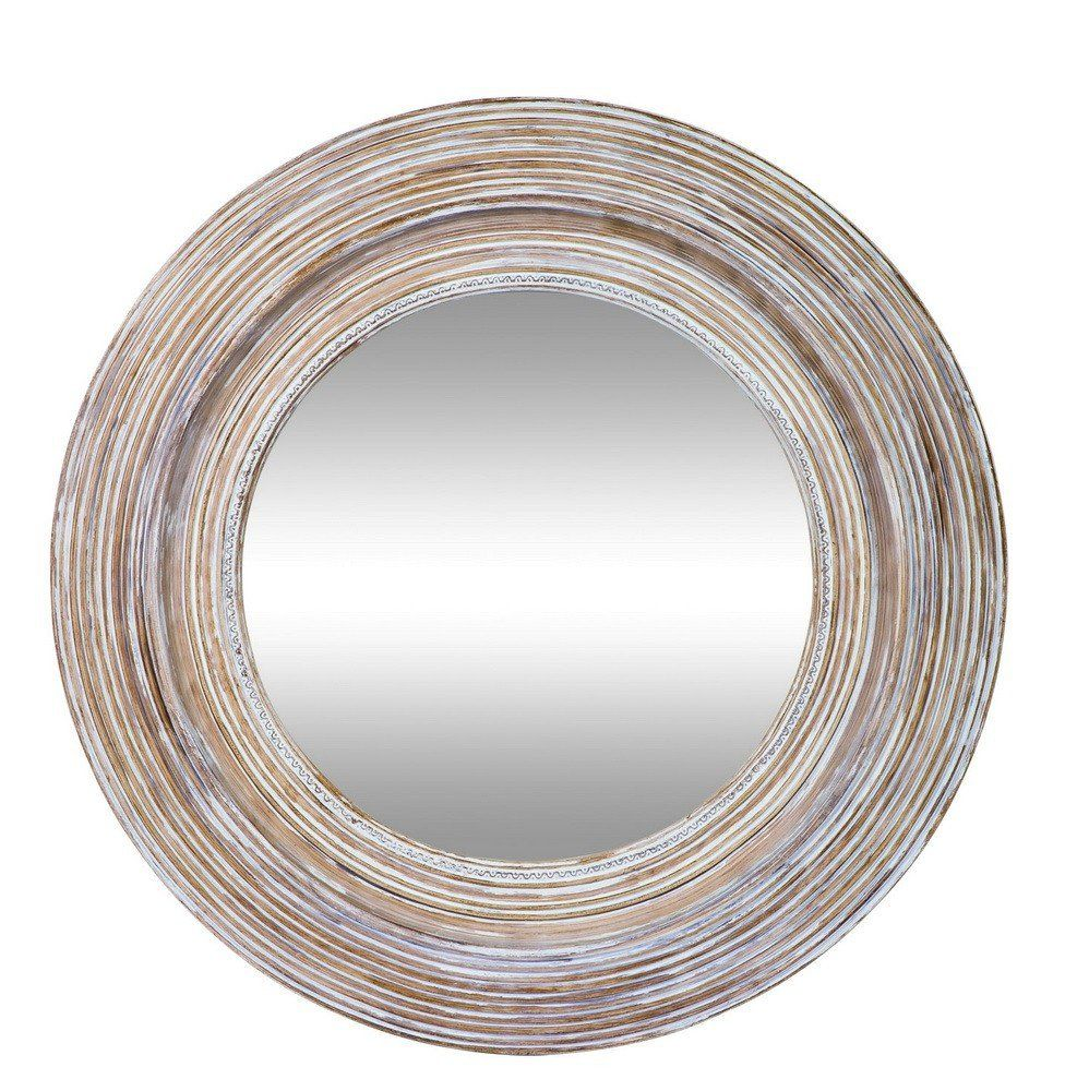 Clay And White Round Mirror Hamptons Style Bedrooms Round Mirrors Round Wall Mirror