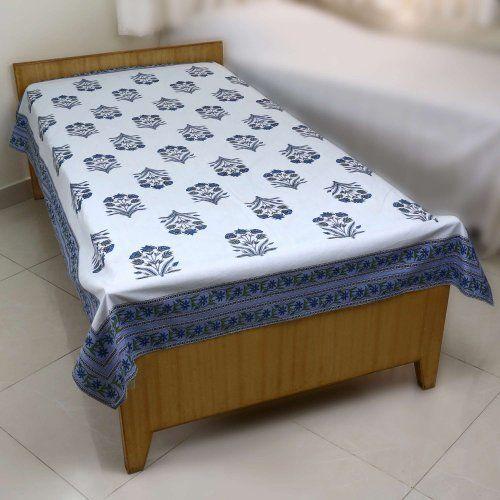 Muebles Para El Hogar Algodón Cama Hoja Doble Tamaño Indio ...
