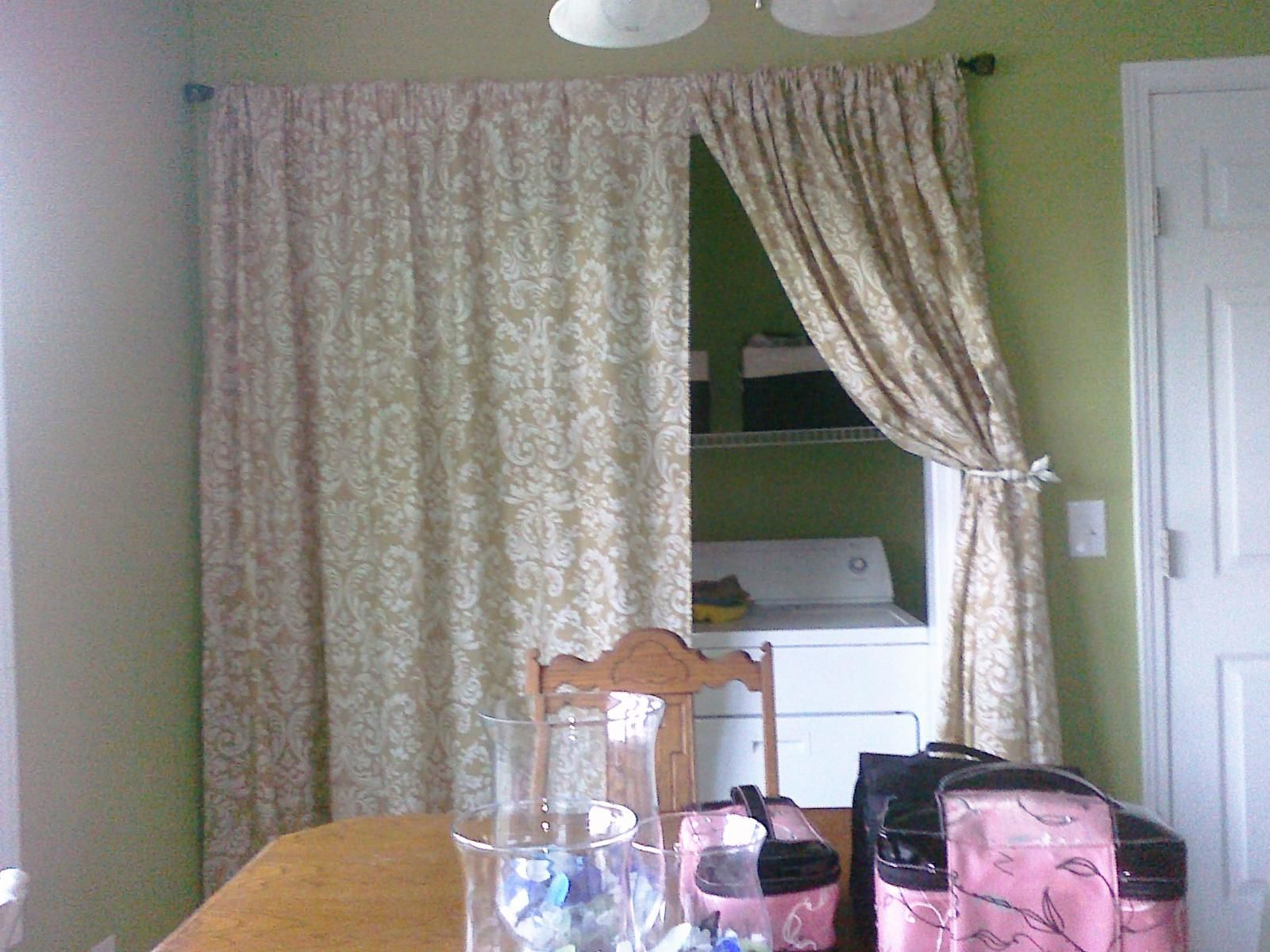 Laundry room curtains - Laundry Room Vintage Laundry Room Curtain Ideas With Decorative Floral Curtain Covering Hidden Space