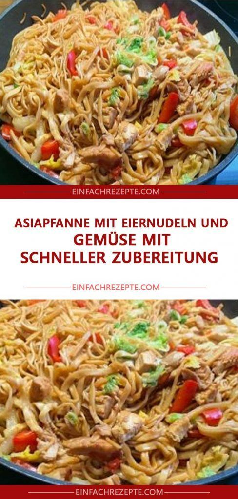 Photo of ASIAN PAN WITH EGG NOODLES AND VEGETABLES WITH QUICK PREPARATION 😍 😍 😍