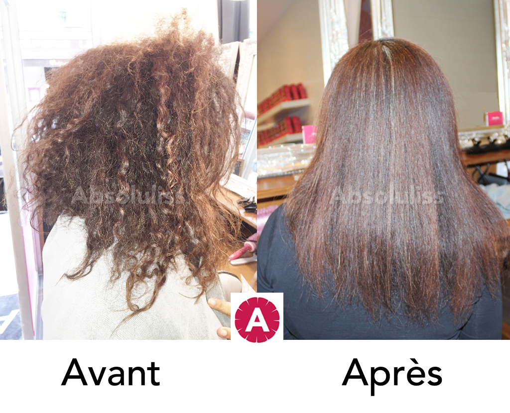 Un lissage br silien absoluliss suprem a apport brillance for Lissage bresilien cheveux crepus salon