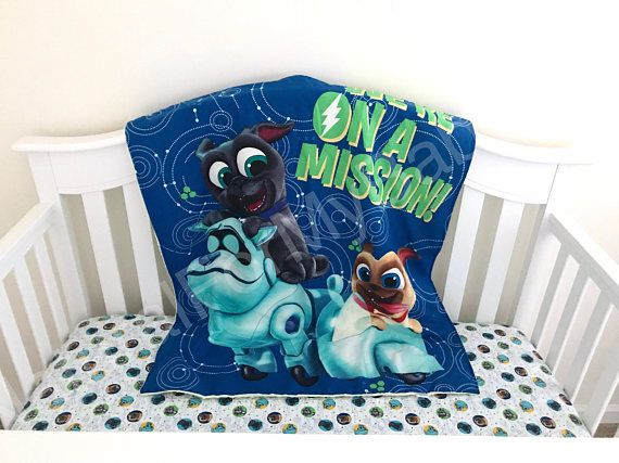 Disney Crib Blanket Puppy Dog Pals Crib Blanket Cotton Minky Blanket
