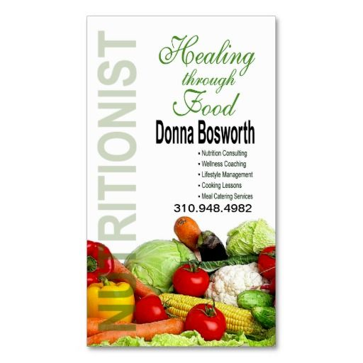 Fresh produce nutritionist food coach weight loss business card fresh produce nutritionist food coach weight loss business card colourmoves