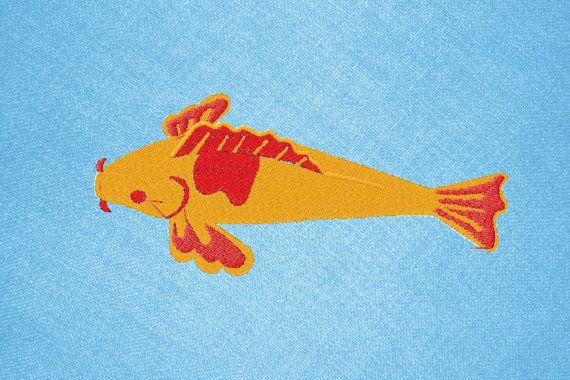 Machine embroidery Japanese embroidery koi fish by IvanaStudio