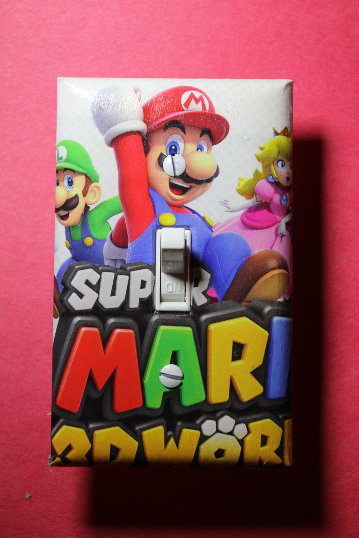 Super Mario World 3D Light Switch Plate Cover Gamer Room Home Decor Comic  Book Gaming Nintendo