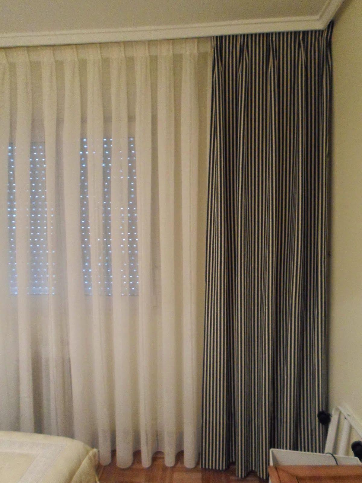 Confecci n de visillos de tablas y cortinas de mo os dormitorio cortinas confeccion de - Visillos y cortinas ...