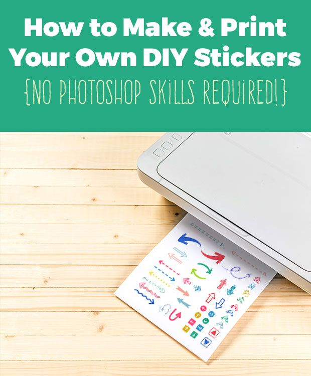 Learn how to make your own planner stickers and diy sticker printables in this easy tutorial