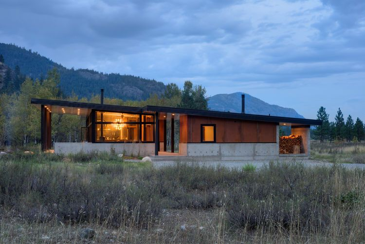 Modern Mountain Retreat In Washington Architecture Modern Ski Cabin Modern Cabin